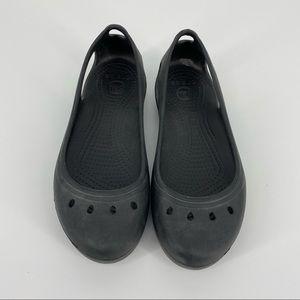 Crocs Kadee Black Slip On Flats Size 8